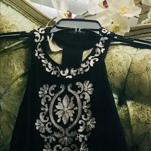 INC Medium evening dress. Black and white.